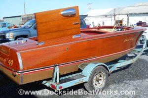18 ft. 1952 Chris Craft Riviera 18, port side view