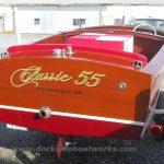 1955 Chris Craft Sportsman 17', stern
