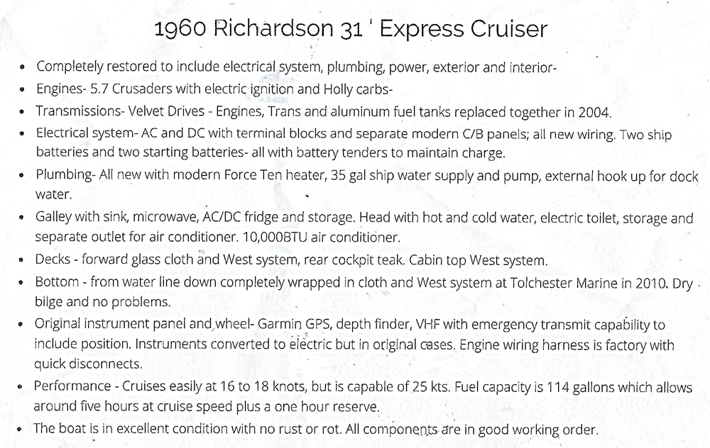 1960-richardson-31-ft-express-cruiser-for-sale-information
